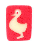 Esponja para los niños con el modelo del pato Imagen de archivo