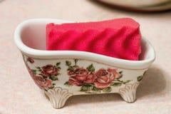 Esponja para los platos que se lavan Fotografía de archivo