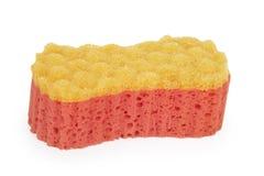 esponja Vermelho-alaranjada do banho Fotos de Stock Royalty Free