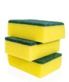 Esponjas amarelas Fotografia de Stock Royalty Free