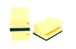 Esponjas amarillas y verdes Imágenes de archivo libres de regalías