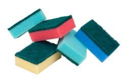 Esponjas coloreadas imagen de archivo