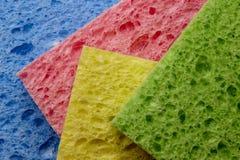 Esponjas coloridas Fotos de Stock