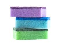Esponjas coloridas Fotografia de Stock