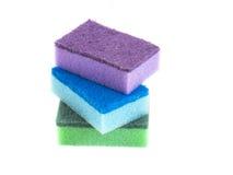 Esponjas coloridas Fotografia de Stock Royalty Free