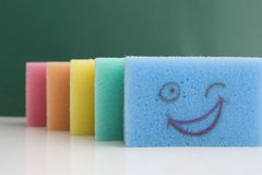 Esponjas coloridas Imagens de Stock
