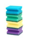 Esponjas coloridas aisladas Imagen de archivo libre de regalías