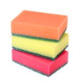 Esponjas coloridas da cozinha Foto de Stock Royalty Free