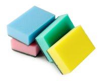 Esponjas coloridas da cozinha Fotografia de Stock