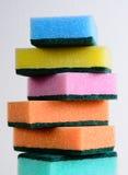 Esponjas da limpeza Imagem de Stock Royalty Free