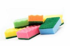 Esponjas de la limpieza. Imagen de archivo libre de regalías