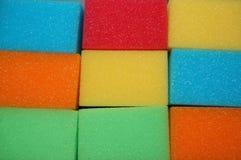 Esponjas de la limpieza Imagen de archivo
