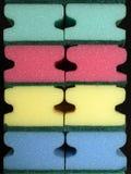 Esponjas de la limpieza Foto de archivo