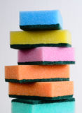 Esponjas de la limpieza Imagen de archivo libre de regalías