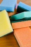 Esponjas de la limpieza Fotografía de archivo libre de regalías