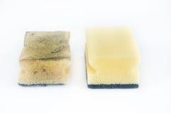 Esponjas de lavagem do prato imagem de stock