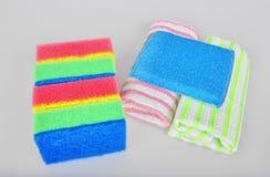Esponjas e toalhas Fotografia de Stock