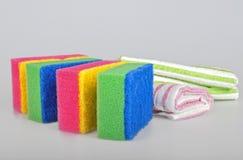 Esponjas e toalhas Foto de Stock Royalty Free