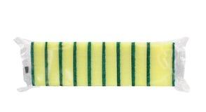 Esponjas en paquete de película Imagen de archivo libre de regalías