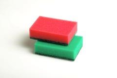 Esponjas para los platos que se lavan Fotos de archivo
