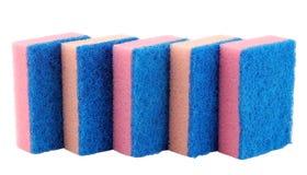 Esponjas para pratos de lavagem Foto de Stock