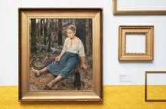 Espoo Финляндия Интерьер музея Akseli Gallen-Kallela стоковые изображения rf