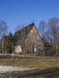 Espoo Cathedral in early spring Royalty Free Stock Photos