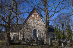 Espoo Cathedral in early spring Stock Photo