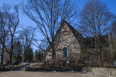 Espoo Cathedral in early spring. Espoo is the second largest city and municipality in Finland Royalty Free Stock Photo
