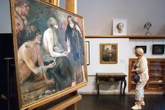 Espoo finland L'interno del museo di Akseli Gallen-Kallela Immagine Stock Libera da Diritti