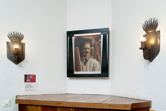 Espoo Finlandia Akseli Gallen-Kallela muzeum wnętrze Zdjęcia Stock