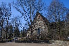 Espoo-Kathedrale im Vorfrühling lizenzfreies stockfoto