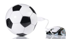 ESport Concept - Soccer Ball royalty free stock photos