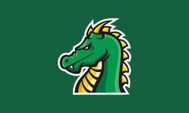 Esport del logotipo de la cara del dragón único foto de archivo
