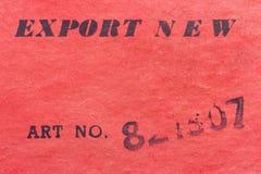 esportazione Immagini Stock
