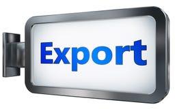 Esportazione sul fondo del tabellone per le affissioni illustrazione vettoriale