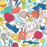 Esporte, aptidão, fundo colorido brilhante s do treinamento funcional ilustração royalty free