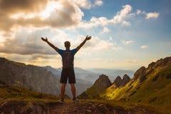 Esporte bem sucedido do conceito dos povos, motivação, inspiração fotografia de stock royalty free