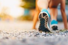 esporte Corrida dos pés do corredor Foto de Stock