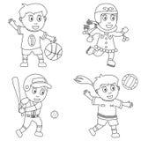 Esporte da coloração para os miúdos [1] ilustração do vetor