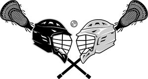 Esporte da lacrosse contra Fotos de Stock