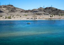Esporte de barco no Rio Colorado Foto de Stock Royalty Free