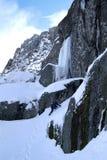 Esporte de escalada do gelo Imagens de Stock