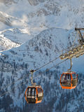 Esporte de Extreeme nos alpes europeus Foto de Stock Royalty Free