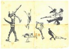 Esporte de inverno - figura patinagem Fotografia de Stock