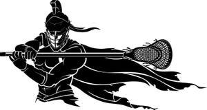 Esporte do guerreiro da lacrosse ilustração royalty free
