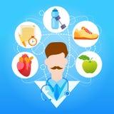 Esporte do médico Healthy Lifestyle Vitamins ilustração royalty free