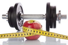 Esporte e dieta Imagem de Stock Royalty Free