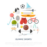 Esporte e ilustração do conceito da engrenagem Foto de Stock Royalty Free