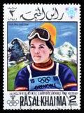 Esporte em selos postais fotos de stock